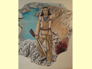 Fresque murale de Winnetou