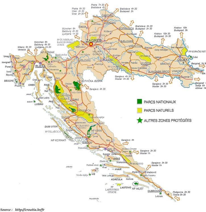 Carte Administrative Croatie.Cartes De La Croatie
